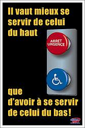 bouton d'arrêt d'urgence